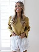 tanie T-shirt-Damskie Podstawowy / Moda miejska Bluza dresowa - Solidne kolory