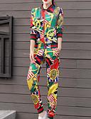 ieftine Costum Damă Două Bucăți-Pentru femei Șic Stradă Set - Bloc Culoare, Pantaloni