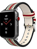 cheap Men's Ties & Bow Ties-Watch Band for Apple Watch Series 4/3/2/1 Apple Leather Loop Nylon / Genuine Leather Wrist Strap