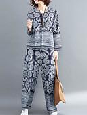 ieftine Tricou-Pentru femei Bluză - Floral, Pantaloni