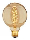 billige Blomsterpikekjoler-1pc 40 W E26 / E27 G95 Varm hvit 2200-2700 k Kontor / Bedrift / Mulighet for demping / Dekorativ Glødende Vintage Edison lyspære 220-240 V