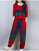 preiswerte Bedruckte Kleider-Damen Set - Einfarbig Hose