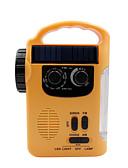 お買い得  マキシドレス-RD339 ポータブルラジオ MP3プレーヤー / ソーラーパワー / 懐中電灯 ワールドレシーバ イエロー