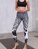 ieftine Leggings-Pentru femei Sport Legging - Floral, În Cruce Talie Înaltă
