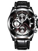 ieftine Ceasuri de Lux-Bărbați Ceas Sport Quartz Calendar Iluminat Oțel inoxidabil PU Bandă Analog Casual Negru / Argint - Argintiu Negru / Roșu Argintiu / negru