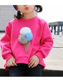 povoljno Majice s kapuljačama i trenirke za djevojčice-Djeca Djevojčice Osnovni Dnevno Jednobojni Kolaž Dugih rukava Regularna Pamuk Bluza Fuksija