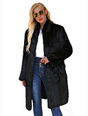 cheap Women's Fur & Faux Fur Coats-Women's Going out / Work Sophisticated Fur Coat - Solid Colored Turtleneck / Sexy