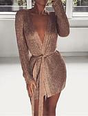 povoljno Ženske haljine-Žene Elegantno Korice Haljina - Izrezati, Jednobojni Iznad koljena
