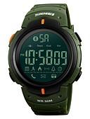 זול שעוני יוקרה-SKMEI בגדי ריקוד גברים שעוני ספורט שעונים צבאיים אוטומטי נמתח לבד 50 m עמיד במים בלותוט' לוח שנה סיליקוןריצה להקה דיגיטלי פאר יום יומי שחור / ירוק - שחור ירוק