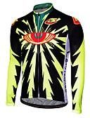 abordables Maillots Ciclismo-Malciklo Hombre Manga Larga Maillot de Ciclismo - Negro Negro / amarillo Caricatura Bicicleta Camiseta / Maillot Transpirable Secado rápido Diseño Anatómico Deportes Caricatura Ciclismo de Montaña