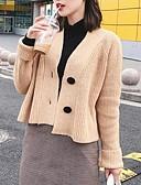 ieftine Bluze & Camisole Femei-Pentru femei Ieșire Manșon Lung Zvelt Cardigan - Mată În V