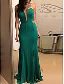 abordables Biquinis y Bañadores para Mujer-Mujer Básico Algodón Delgado Pantalones - Un Color Espalda al Aire / Retazos Verde Trébol / Fiesta / Maxi / Con Tirantes / Playa / Sexy