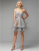 abordables Vestidos de Novia-Corte en A Escote Corazón Corta / Mini Encaje / Tul Vestido con Encaje / Cinta / Lazo por TS Couture®