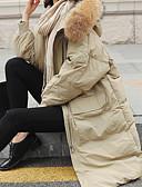 رخيصةأون فساتين حفلات-L / XL / XXL وردي بلاشيهغ / البيج / بني فاتح مع قبعة بوليستر, مبطن طويلة قياس أساسي ستاندرد كم طويل لون سادة مناسب للبس اليومي نسائي