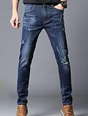 abordables Pantalones y Shorts de Hombre-Hombre Tallas Grandes Delgado Vaqueros Pantalones - Un Color