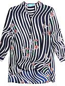 ieftine Tricou-Pentru femei În V Tricou / Bluză Dungi