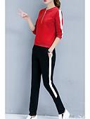 ieftine Cămașă-Pentru femei Set - Dungi, Pantaloni