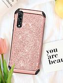 billige Mobilcovers-BENTOBEN Etui Til Huawei P20 Pro Stødsikker / Belægning / Glitterskin Bagcover Glitterskin Hårdt TPU / PC for Huawei P20 Pro