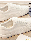 cheap Bodysuit-Women's Comfort Shoes Canvas Fall Sneakers Flat Heel White / Black