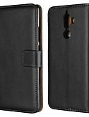 preiswerte Handyhüllen-Hülle Für Nokia Nokia 5.1 / Nokia 3.1 Geldbeutel / Kreditkartenfächer / mit Halterung Ganzkörper-Gehäuse Solide Hart Echtleder für Nokia 9 / Nokia 8 / Nokia 7 / Nokia 6