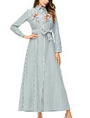 cheap Women's Blouses-women's going out loose sheath dress high waist maxi shirt collar