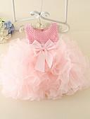 Χαμηλού Κόστους Φορέματα για κορίτσια-Μωρό Κοριτσίστικα Βασικό Μονόχρωμο Αμάνικο Βαμβάκι Φόρεμα Ανθισμένο Ροζ / Νήπιο