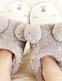 cheap Women's Fur & Faux Fur Coats-Women's Slippers House Slippers Casual Velvet Animal Print