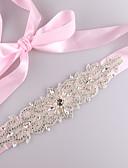 Χαμηλού Κόστους Κορδέλες για πάρτι-Σατέν / Τούλι Γάμου / Ειδική Περίσταση Ζώνη Με Κρυσταλλάκια / Απομίμηση Πέρλας / Κρύσταλλοι / Στρας Γυναικεία Ζώνες για Φορέματα
