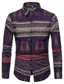 cheap Men's Shirts-men's cotton slim shirt - striped classic collar