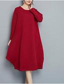 olcso Dresses For Date-a nők kimentek laza pulóver ruha midi