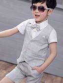abordables Vestidos de Trabajo-Niños Chico Básico Estampado Manga Corta Algodón / Poliéster Conjunto de Ropa Rosa 110
