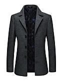 olcso Férfi zakók és öltönyök-a férfiak kimentek blazer-tömör színű ing gallérral
