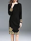זול תחרה רומטנית-עד הברך אחיד - שמלה שחורה וקטנה בסיסי בגדי ריקוד נשים