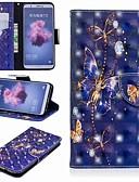 זול מגנים לטלפון-מגן עבור Huawei Huawei P20 / Huawei P20 Pro / Huawei P20 lite ארנק / מחזיק כרטיסים / עם מעמד כיסוי מלא פרפר קשיח עור PU / P10 Lite