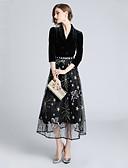 olcso Dresses For Date-Női Alap Hüvely Ruha - Nyomtatott, Virágos Midi