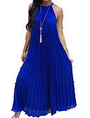 abordables Bufandas de Mujer-Mujer Básico Corte Swing Vestido Un Color Maxi