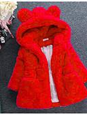 povoljno Jakne i kaputi za djevojčice-Djeca Dijete koje je tek prohodalo Djevojčice Osnovni Ulični šik Dnevno Izlasci Jednobojni Szőrme gallér Dugih rukava Normalne dužine Jakna i kaput Red