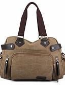 cheap Men's Blazers & Suits-Canvas Travel Bag Zipper Coffee / Maroon / Khaki