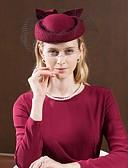 olcso Női kesztyűk-100% Gyapjú Kalap val vel Csokor 1db Hétköznapi / Hétköznapi viselet Sisak