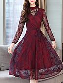 זול תחרה רומטנית-נשים רזה קו השמלה גבוהה מותניים midi