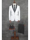 זול חליפות-פסים גזרה מחוייטת פוליאסטר חליפה - פתוח Single Breasted One-button / חליפות