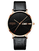 cheap Luxury Watches-Men's Wrist Watch Quartz 30 m Water Resistant / Water Proof Calendar / date / day Casual Watch Leather Band Analog Luxury Casual Black - Black / Silver Silver / Blue Black / Rose Gold One Year