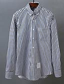 baratos Blusas Femininas-homens que saem / trabalham a camisa magro - colarinho da camisa do bloco da cor