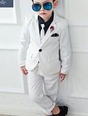 お買い得  男児 ウェアセット-子供 男の子 ベーシック プリント 長袖 コットン アンサンブル ブルー