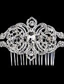 cheap Party Headpieces-Alloy Hair Combs with Rhinestone 1 Piece Wedding / Party / Evening Headpiece