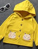 levne Dětské bundičky a kabátky-Dítě Dívčí Základní Denní Tisk Dlouhý rukáv Standardní Polyester Bundičky a kabáty Vodní modrá / Toddler