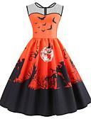 tanie Sukienki-Damskie Vintage Swing Sukienka - Geometric Shape Do kolan