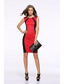 tanie Sukienki-Damskie Vintage / Elegancja Szczupła Spodnie - Kolorowy blok Wiązanie Wysoka talia Zielony / Impreza / Wyjściowe