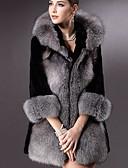 abordables Sombreros de mujer-Mujer Básico Abrigo de Piel Un Color