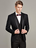 cheap Men's Accessories-Tuxedos Tailored Fit Peak Single Breasted One-button Wool / Polyester Solid Colored